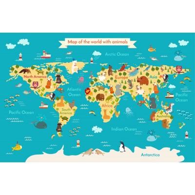 Bebek Çocuk Odası Harita Kıtalar Duvar Kağıdı
